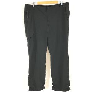 Eddie Bauer Womens Pants Fleece Lined Cargo 16